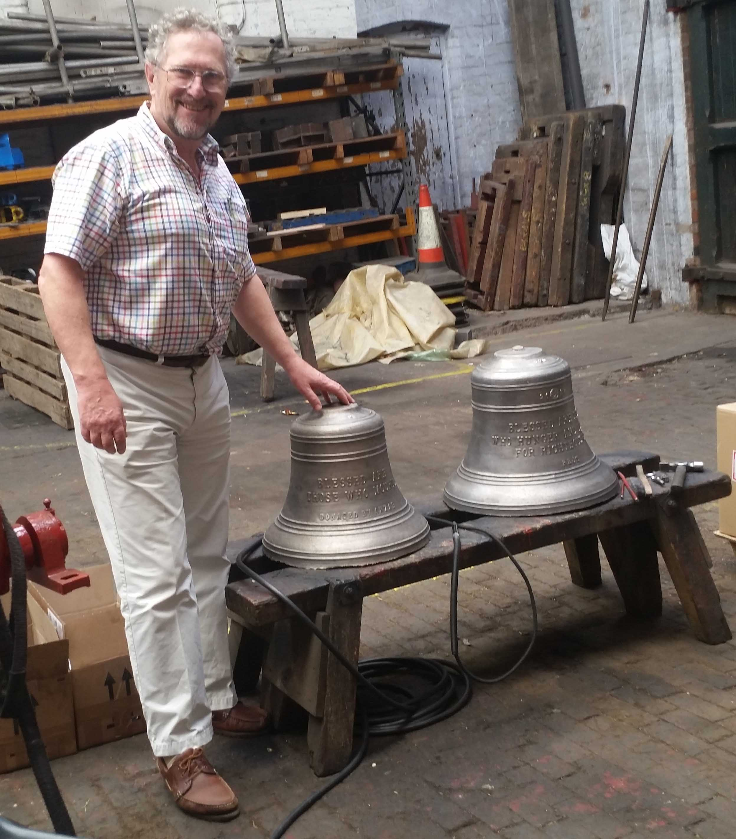 David Smith, with 2 bells destined for Ingleburn