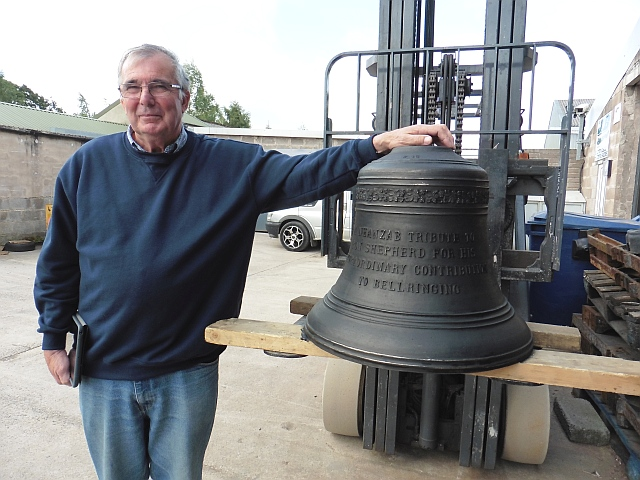 Ron Shepherd and his tribute bell